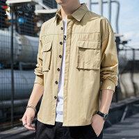 啄木鸟 2021新款男士长袖衬衫休闲宽松工装外套衬衣4994290795