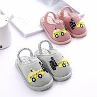 儿童宝宝拖鞋夏女1-3岁防滑室内婴幼儿棉布拖鞋小男童居家鞋春秋