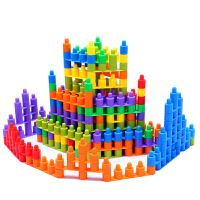 头积木塑料拼插拼装益智玩具儿童智力宝宝幼儿园亲子早教