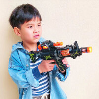 儿童电动玩具枪声光音乐手枪宝宝小男孩冲锋抢仿真2-3-6岁