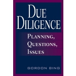 【预订】Due Diligence: Planning, Questions, Issues