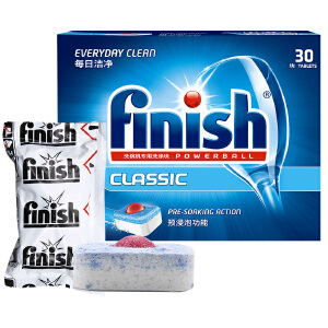 (finish)洗涤剂洗碗粉洗碗块489g,光亮碗碟西门子美的大型洗碗机专用