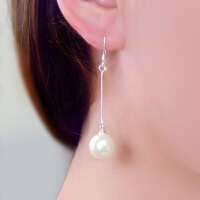 气质女时尚韩版耳饰送人礼物长款贝珍珠耳环