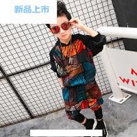 春秋童装男童运动套装儿童男两件套2018春季新款韩版春装中大童潮