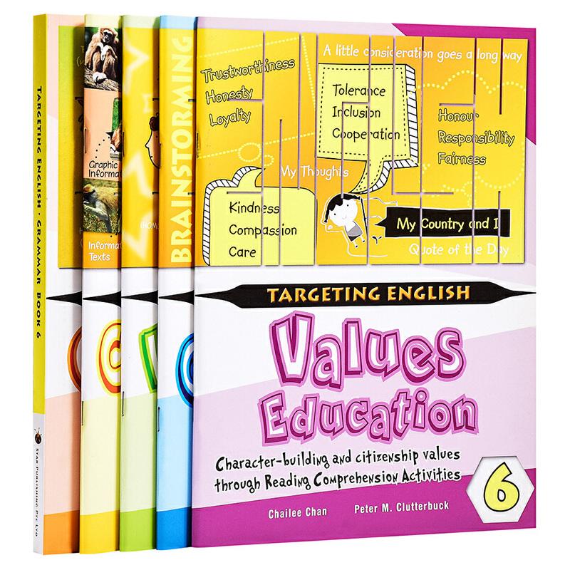 【中商原版】【新加坡英语教材】Targeting English Series 6 目标英语6年级5册套装