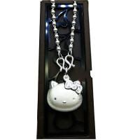 2018新款S999纯银项链女kitty凯蒂猫简约学生锁骨链元宵送女友 999圆珠链大人 40cm