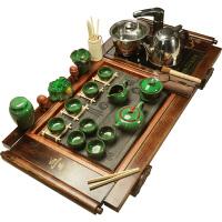 乌金石电磁炉实木茶台茶道茶盘陶瓷茶具套装家用茶壶整套