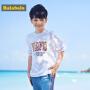 【满100减50】巴拉巴拉男童t恤 短袖 中大童儿童夏装新款童装圆领印花T恤
