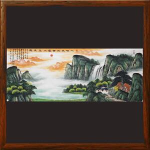 1.8米山水《入境见祥云 瀑水飞玉龙》中华两岸书画家协会主席R1729