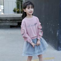 2019 女童秋装新款套装儿童韩版长袖T恤上衣短裙子洋气两件套潮流