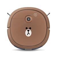 科沃斯(Ecovacs)扫地机器人 家用吸尘器地宝扫拖一体机清洁器拖地机布朗熊定制 U3LINE FRIENDS 棕色