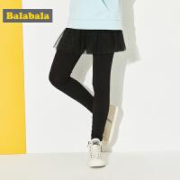 巴拉巴拉女童裤子儿童长裤春秋2018新款中大童裙子童装假两件外裤