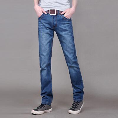 男士新款夏季时尚百搭牛仔裤商务休闲男长裤子