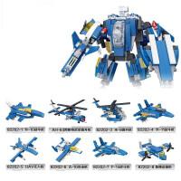 星钻积木兼容乐高儿童军事力拼装机器人5-6-8-10岁启蒙积木玩具