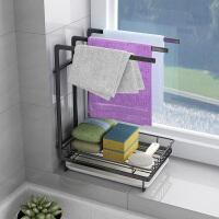抹布架厨房用品置物架收纳洗碗布抹布挂架收纳壁挂毛巾沥水架