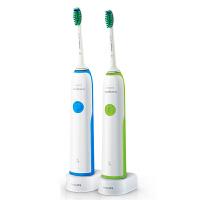 飞利浦电动牙刷HX3216成人充电式声波式震动牙刷智能净白牙齿