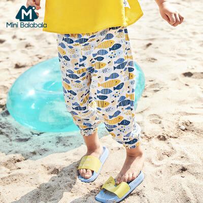 【尾品汇】迷你巴拉巴拉亲子装女童裤子夏裤薄款灯笼裤宽松母子装儿童防蚊裤