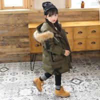 ZAH正品儿童羽绒服女孩子2017冬季新款冬装保暖加厚女童外套中长款