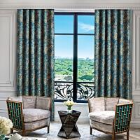 欧式窗帘成品田园简约现代全遮光布卧室客厅落地飘窗遮阳纱帘