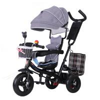 20190707094446007儿童三轮车脚踏车1-3-5岁大号轻便婴儿单车宝宝手推车自行车 18新升级嫩粉色 全棚