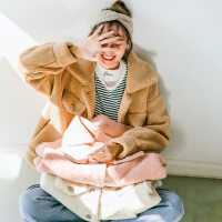 仿羊羔毛外套女2018秋冬时尚百搭韩版学生装加厚羊羔绒短款棉衣