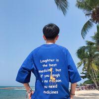 2018夏装港风学院风短袖T恤男情侣帅气韩版学生潮流t恤