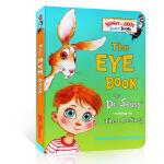 英文原版 认知绘本 The Eye Book 宝宝身体认知 眼睛书 苏斯博士 Dr.Seuss 儿童启蒙 纸板书 Br