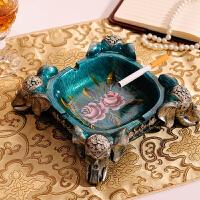 欧式复古烟灰缸 时尚创意实用礼品客厅茶几大号吉祥大象烟缸摆件