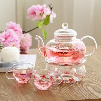 Evergreen爱屋格林茶壶耐热高温玻璃组合四件套茶杯家用泡茶壶过滤花茶杯壶套装