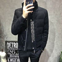Calvirl Kleirl CK2018冬装潮流青年韩版修身刺绣棉袄保暖棉衣男士立领外套