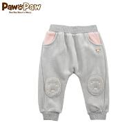 【2件2.5折 到手价:100元】Pawinpaw卡通小熊童装冬款男女宝宝款裤子婴幼儿卡通卫裤