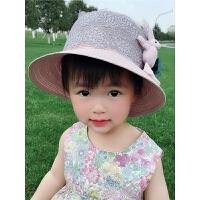 儿童草帽女夏小清新出游遮阳帽宝宝太阳帽沙滩帽