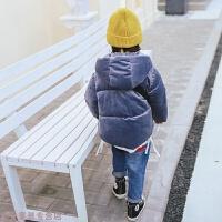 冬季宝宝金丝绒韩版女童冬装棉衣男童加厚棉袄儿童羽绒棉外套保暖秋冬新款 灰色 90cm