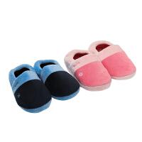 KK树2017新款冬季棉鞋女包跟加绒保暖儿童棉拖鞋防滑平底宝宝拖鞋