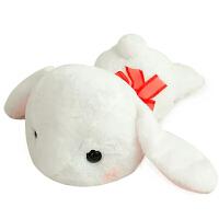 长耳兔子毛绒玩具垂耳兔公仔小白兔玩偶抱枕娃娃可爱生日礼物女生
