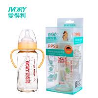 爱得利 宽口径PPSU奶瓶330ml安心材质带吸管手柄AA-204