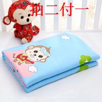 纯棉婴儿童隔尿垫防水宝宝可洗大老人护理月经床垫 大号 80*120厘米