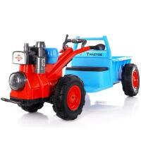 儿童电动手扶拖拉机玩具车可坐人四轮双人童车男女孩子充电特大号儿童手扶拖拉机电动车可坐 拖拉机双驱动12V大电瓶