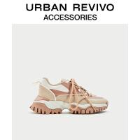URBAN REVIVO2020冬季新品女士配件新潮时髦运动鞋AW48TS5N2000