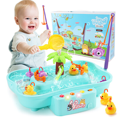 1-2-3岁男孩女孩男童婴儿童钓鱼电动玩具