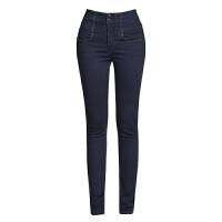 女裤2018春新款韩版高腰牛仔女大码修身显瘦小脚铅笔长裤