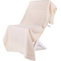 [当当自营]三利 A类加厚长绒棉 米色 缎边大浴巾 纯棉吸水 柔软舒适 带挂绳 婴儿可用