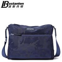 波斯丹顿帆布单肩包男韩版迷彩斜挎男士包包时尚休闲大容量背包B1162081