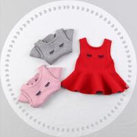 婴儿马甲新款宝宝毛线背心女童坎肩针织裙