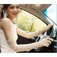 夏季开车防晒蕾丝手套复古长款黑色舞台舞蹈表演礼服搭配薄袖套女