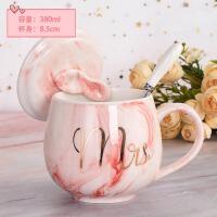 创意马克杯带盖勺清新简约水杯家用陶瓷杯子韩版女学生牛奶咖啡杯