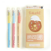 晨光热可擦中性笔全针管中性笔0.5mm/0.4mm可擦水笔插拔款/按动款 0.5mm 黑色全针管插拔款A0902 12