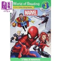 【中商原版】迪士尼阅读世界:漫威 3合1故事 Marvel 3-in-1 英文原版