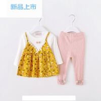 女宝宝0-1-2岁3春季儿童衣服6-12个月婴儿外出服韩版春装公主套装