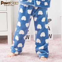 【新品6折 到手价:155】Pawinpaw卡通小熊童装春男童珊瑚绒家居裤印花儿童睡裤